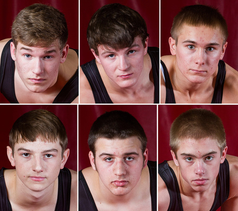 Your 2015 Wisconsin Wrestling Challenge Series Regional Champions.  Top row from left: Zweifel, Hansen, Gartner. Bottom row from left: Zimmerman, Smith, Forbes.